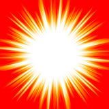 Heller weißer Blitz auf einem orange Hintergrund Lizenzfreie Stockbilder