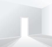 Heller weißer Raum Lizenzfreies Stockfoto