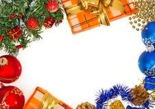 Heller Weihnachtsrahmen Stockfotos