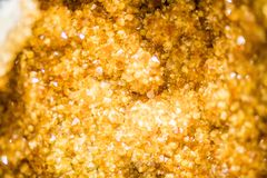 Heller Zitrinquarz Crystal Cluster stockfotografie