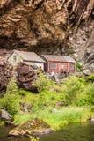 The Helleren houses in Jossingfjord, Norway Stock Image