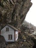 Helleren jøssingfjord挪威 库存照片