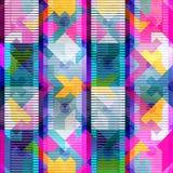 Helles abstraktes geometrisches nahtloses Muster in der Graffitiart Qualitätsvektorillustration für Ihr Design Stockfotografie