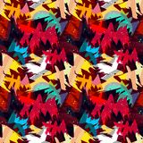 Helles abstraktes geometrisches nahtloses Muster in der Graffitiart Qualitätsvektorillustration für Ihr Design Lizenzfreie Stockfotografie