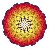 Helles abstraktes Muster, Mandala Lizenzfreie Stockfotos