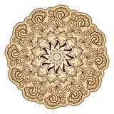 Helles abstraktes Muster, Mandala Lizenzfreie Stockfotografie