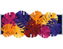 Helles abstraktes tropisches Gestaltungselement Stockfoto