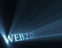Helles Aufflackern der Version des Webs 2.0 Stockfotografie