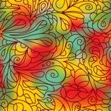 Helles aufwändiges Muster Warme Töne Nahtloses Muster Stockfoto