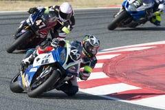 HELLES Ausdauer-Team 24 Stunden Catalunya-Motorradfahren lizenzfreie stockbilder