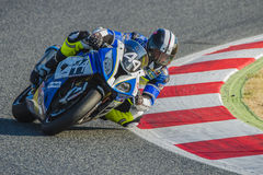 HELLES Ausdauer-Team 24 Stunden Catalunya-Motorradfahren Lizenzfreies Stockfoto