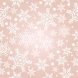 Helles beige Muster mit Schneeflocken Lizenzfreies Stockfoto
