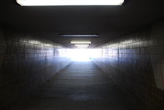 Helles Ende des Tunnels Stockfotos