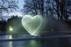 Helles Ereignis Winterlichter bis zum Nacht im Palmgarden in Frankfu Stockbilder