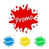 Helles Farbenspritzentag mit Promo, Vektorillustration auf Lager vektor abbildung