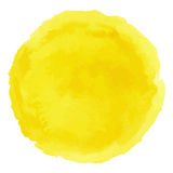 Helles gelbes Aquarell gemalter Vektorfleck Lizenzfreie Stockfotografie