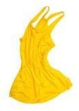 Helles gelbes Unterhemd in der Luft stockbild