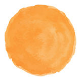 Helles gemalter Vektorfleck des Pfirsiches Aquarell Lizenzfreies Stockfoto