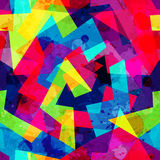 Helles geometrisches nahtloses Muster mit Schmutzeffekt lizenzfreie abbildung