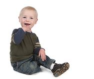 Helles glückliches junges Kleinkind-Lächeln lizenzfreies stockbild