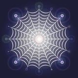 Helles glühendes Spinnennetz Lizenzfreie Stockfotografie