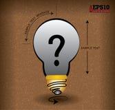 Helles Glühlampe Fragezeichen Lizenzfreie Abbildung