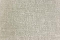 Helles Grey Linen Texture, große ausführliche Makronahaufnahme, horizontaler strukturierter Muster-Hintergrund stockfotografie