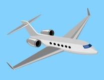Helles Handelsflugzeug Stockbilder