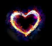 Helles Herz Stockbild