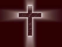 Helles Kreuz mit hellen Strahlen Lizenzfreie Stockfotos