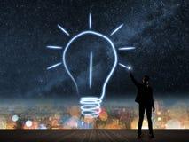 Helles Lampensymbol der Zeichnung Lizenzfreie Stockbilder