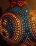 Helles Licht vom Kürbis Stockbild