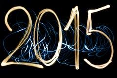 Helles malendes Jahr 2015 Stockbilder