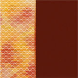 Helles Mosaik für Ihr Design mit Platz für Text. Vektor stock abbildung