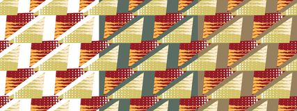 Helles Muster gemacht von den Dreiecken lizenzfreie abbildung