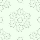 Helles Muster mit Blattverzierungen Stockbilder