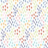 Helles Muster mit Verwirrung von Herzen und von Punkten lizenzfreie abbildung