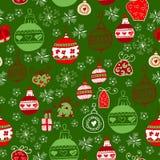 Helles Muster mit Weihnachtsspielwaren Lizenzfreie Stockfotos