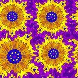Helles Muster von Kreisverzierungen Stockfotos