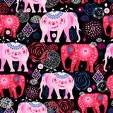 Helles Muster von schönen Elefanten stock abbildung