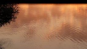 Helles Nachdenken des Sonnenuntergangs über das Meerwasser Sonnenuntergang auf dem Strand stock video footage