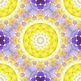 Helles nahtloses abstraktes Muster, Mandala Stockfotos