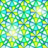 Helles nahtloses Kaleidoskopbuntglas Stockfoto
