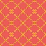 Helles nahtloses Muster mit gelben Stammes- Verzierungen stock abbildung