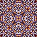 Helles nahtloses Muster mit symmetrischer geometrischer Verzierung Bunter abstrakter Hintergrund Ethnische und Stammes- Motive Lizenzfreies Stockfoto