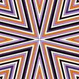 Helles nahtloses Muster mit symmetrischer geometrischer Verzierung Bunter abstrakter Hintergrund Ethnische und Stammes- Motive Stockfotografie