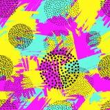 Helles nahtloses Muster von den bunten Bürste Anschlägen und dem bla lizenzfreie abbildung