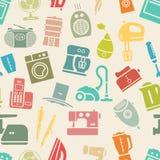Helles nahtloses Muster von Haushaltsgeräten Stockfotos