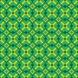 Helles nahtloses nähendes Muster auf einem grünen Hintergrund Stockfotografie