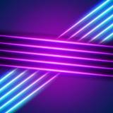 Helles Neon zeichnet Hintergrund Lizenzfreies Stockfoto